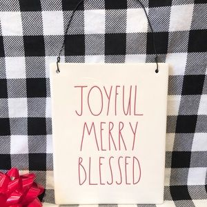 Rae Dunn Christmas JOYFUL MERRY BLESSED sign